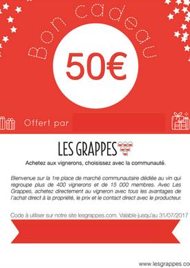 Bon cadeau vin Les Grappes
