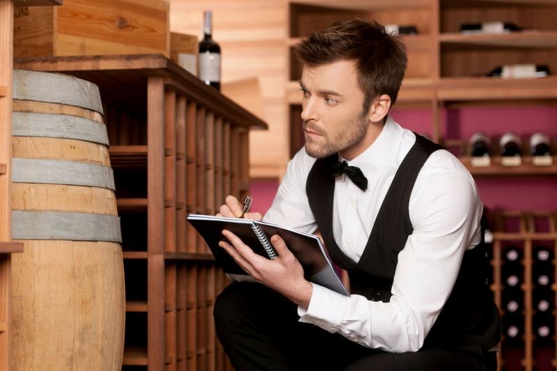 vérification de la cave à vin