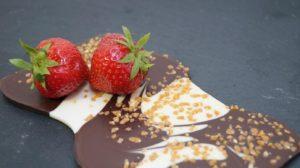 fraises et chocolat